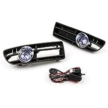 Areyourshop - 2 rejillas de parachoques para coche (luz antiniebla, interruptor azul para Bora