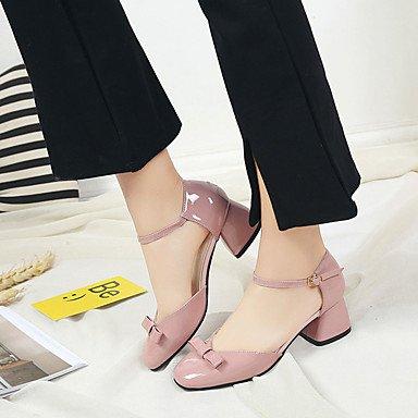 LvYuan Da donna-Sandali-Formale Casual-Comoda-Quadrato-PU (Poliuretano)-Nero Marrone Rosa Grigio Pink
