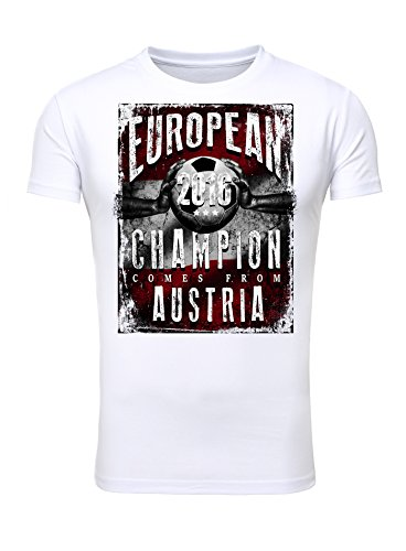 Legendary Items T-Shirt EUROPEAN CHAMPION 2016 Österreich Printshirt Europameister EM Fußball Trikot Weiß