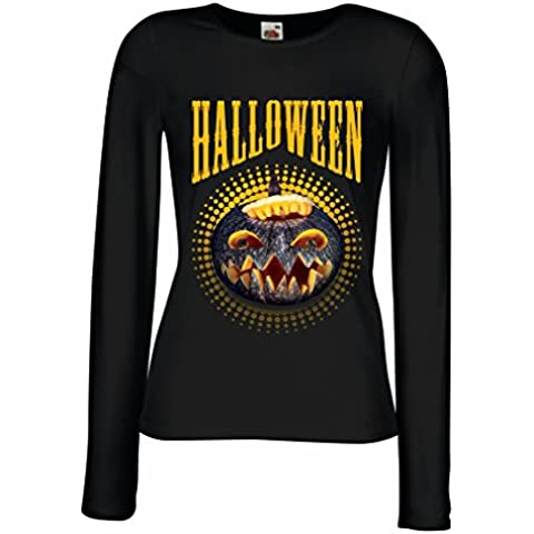 N4273M Maniche lunghe femminili T-shirt Halloween