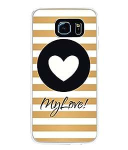 PrintVisa Designer Back Case Cover for Samsung Galaxy S6 G920I :: Samsung Galaxy S6 G9200 G9208 G9208/Ss G9209 G920A G920F G920Fd G920S G920T (Love Lovely Attitude Men Man Manly)