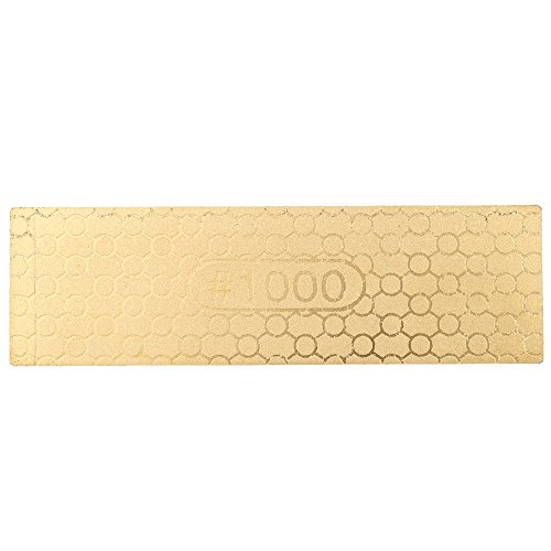 Anself 400/1000 Doppelseite Schleifstein Wetzstein aus Diamant 100*30*1.2mm