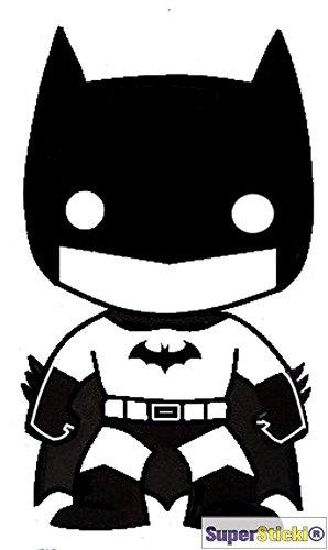 Baby Batman Kinder Batman kleiner Batman Superheld ca 15 cm Tuning Racing Rennsport Motorsport Deko Rennen aus Hochleistungsfolie Aufkleber Autoaufkleber Tuningaufkleber von SUPERSTICKI® aus Hochleistungsfolie für alle glatten Flächen UV und Waschanlagenfest Tuning Profi Qualität Auto KFZ Scheibe Lack Profi-Qualität Tuning