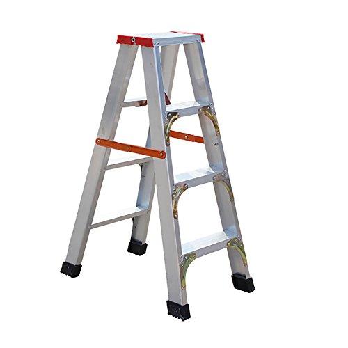 LFF- Verdicken verstärktes Aluminium-faltende Rutschfeste 3 4 Schritt-Leiter-tragbare Leiter-Dachboden-Treppe-kletternde Leiter (größe : A)