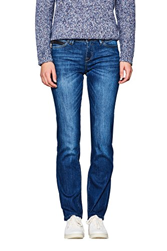 edc by ESPRIT Damen Straight Jeans 997CC1B821, Blau (Blue Medium Wash 902), W29/L32