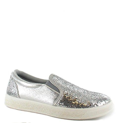 Générique, Sneaker Donna Nero Black Silver