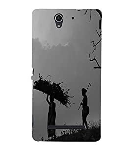 Fuson Premium Back Case Cover Common man With Multi Background Degined For Sony Xperia C3 Dual D2502::Sony Xperia C3 D2533