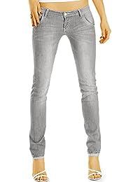 Bestyledberlin pantalon en jean femme, jean slim fit taille basse j50k