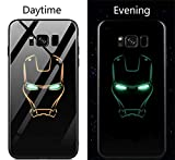 Keu_20-1 PC Coque Rigide en Verre pour Samsung Galaxy S8 S9 Plus Note 8 Motif Avengers Marvel Batman Captain America Iron Man for...