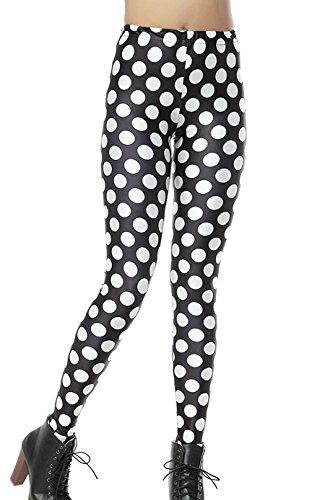 DELEY Damen Mädchen Digitaldruck Leggins Stretch Hosen Enge Strumpfhose Leggings Polka Dot (Dot Hose Polka Leggings)