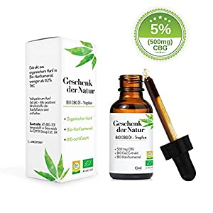 Geschenk der Natur CB 5% Cannabigerol haltige Premium Essenz Öl CB-1 und CB-2 Aktivator (5% 10ml)