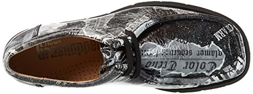 Sioux Grash-d162-10, Mocassins Femme Gris - Grau (newspaper)