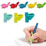 Kesote Paquet de 12 Poignées Crayon Silicone Ergonomique Claw Aide Griffonnage Dolphin et Poignées Style Grip Titulaire de Formation...