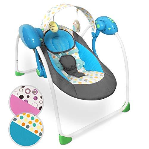 Sdraietta neonati con arco giochi - pieghevole, 5 velocità di oscillazione, cintura di sicurezza, 8 melodie, colore a scelta - sedia a dondolo neonati altalena giocattoli baby