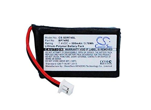 CS-SDR74SL Batería 500mAh [DOGTRA] Edge Collar, Edge Receiver, Edge Remote Dog Training Collar, Edge RT Additional Receiver, Edge RT Collar, Edge RT Remote, Edge RX sustituye BP-74RE, BP74RE