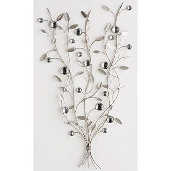 Wall Art   Metal Wall Art   Silver Jewel Tree Branch