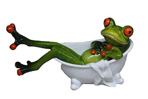 Tierfigur Frosch Badetag für Badezimmer Deko sehr schön