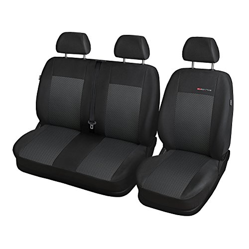 Saferide - Coprisedili per Auto, 1 + 2 sedili Anteriori, Colore: Grigio