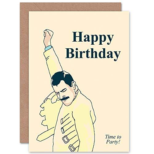 NEW BIRTHDAY HAPPY FREDDIE MERCURY FUN ART GREETINGS GREETING CARD GIFT CP1697