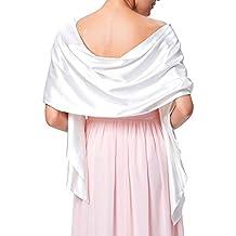 Très Chic Mailanda Écharpe Châle Étole en Satin Femme Wrap Foulard Pashmina  pour Soirée Cérémonies Fêtes 3fdcfc148a4