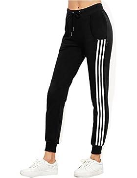 SYGoodBUY Pantalones Deportivos para Mujeres Pantalones Deportivos con Bolsillos para Gimnasio