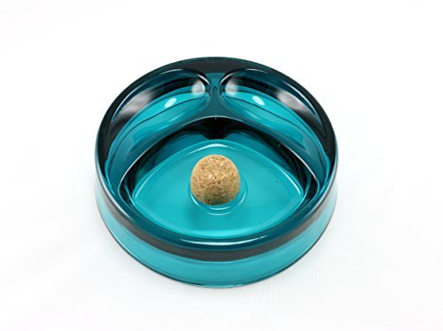 skyway-tobacco-pipe-ashtray-with-cork-knocker-and-2-pipe-stand-large-blue-by-skyway-products