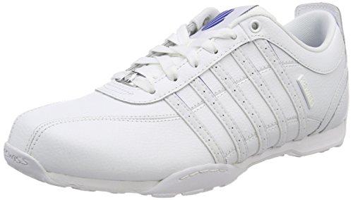 K-Swiss Herren Arvee 1.5 Sneaker, Weiß White/Classic Blue, 41 EU - Designer Leder Weiß