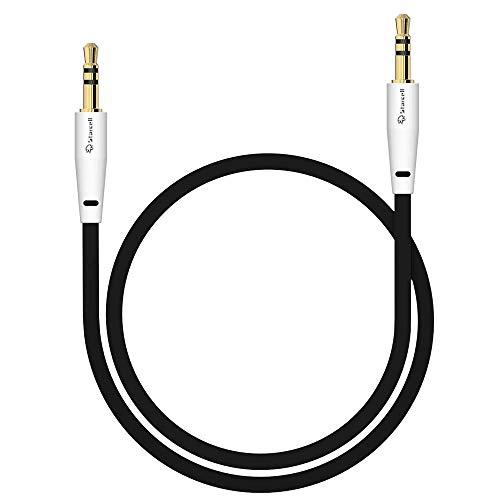 Act Sony Xperia Z5 Compact Anti-Tangle 3,5mm Stereo-Kabel 1 Meter Auxiliary lead Zusatzkabel Klinke-auf-Klinke Buchse zu Buchse Flachkabel Audio-Verlängerungskabel Input von Gadget Schwarz -