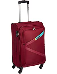 Safari Polyester 65 cms Ltrs Red Softsided Suitcase (Greater)