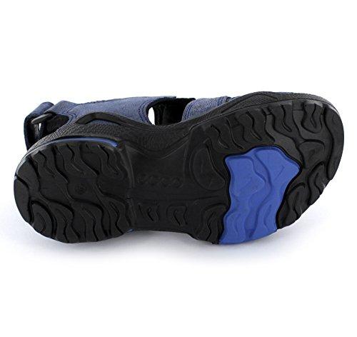 Ecco Biom Sandal - Jungen Sandalen aus Leder/Textil in true blue/black (schwarz/blau) -