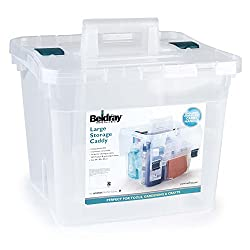 Beldray LA036759 DIY Hobby Cleaning Storage Caddy with Lid, Large