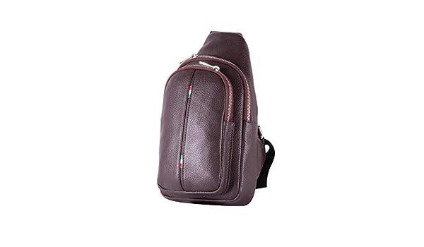 f850f57d4ab10 785 5000 BORDERLINE - Schultertasche aus echtem Leder für Herren - CESARE  (Dunkelbraun)  Amazon.de  Schuhe   Handtaschen