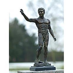 H. Packmor GmbH Sehr schöne Bronzeskulptur eines Mannes Adonis aus Bronze gefertigt