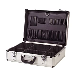 Maplin Electrician Aluminium Lockable Flight Case Tool Box Storage Plastic Handle New