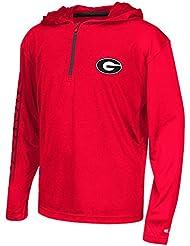 "Georgia Bulldogs Youth NCAA ""Sleet"" 1/4 Zip Pullover Hooded WindShirt Chemise"