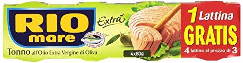 RIO MARE Thunfisch In Olivenöl Extra Gramm 80X3 + 1 Würze