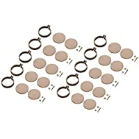 B Baosity Pack of 10 Mini Round Embroidery Hoop Frame, Made of Wood - Cross Stitch, Arts, DIY Crafts Tool