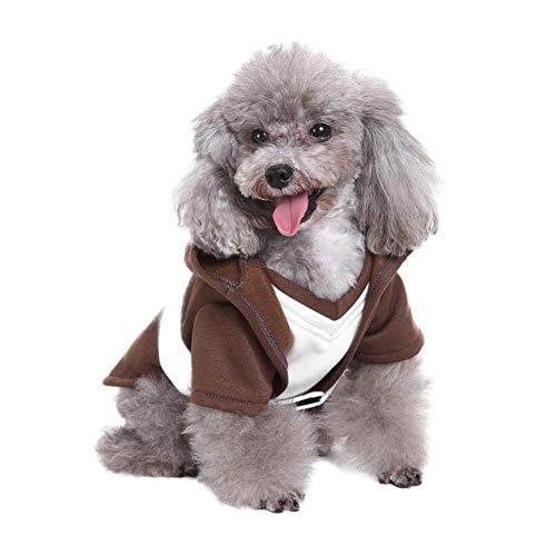Samurai Hunde Kostüm - MONIY Samurai Anzug Haustier Kostüme, Hund Halloween Cosplay Kostüm, Hoodies Holy Hound Kleidung, Herbst Winter Warm Overall Outfit