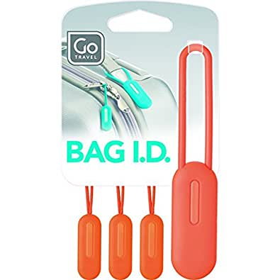 Bag Luggage Identification Set With Zip Pullers