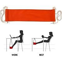 Piedi Amaca, SUNNIOR portatile regolabile Mini resto del piede supporto sotto Desk facile da smontare per casa e ufficio (arancione)