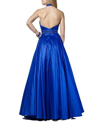 Royaldress Fuchsia Hochwertig Satin Abendkleider Langes Partykleider Festlich Damenkleider 2017 Neu Royal Blau