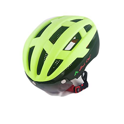 Fahrradhelm für Männer und Frauen, Mountainbike-Helm mit magnetischer Schutzbrille und Radkappen-3-57-61cm