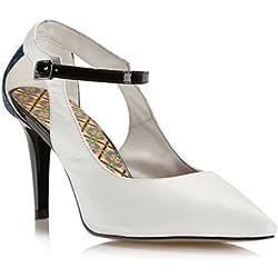 WITTCHEN Damen Stöckelschuhe Damenschuhe, Naturleder, Leder, Weiß, Größe:39, 80-D-544-0-39
