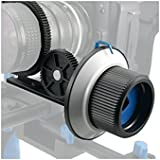 """mcoplus® point précis Follow Focus F1Support pour appareil photo DSLR 15mm/1,5cm Guide Rail diapositive Way Fit pour 36–110/3,6cm -4.3""""Objectif d'appareil photo (F1)..."""