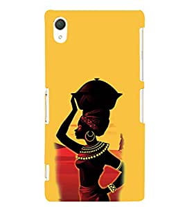 Print Masti Designer Back Case Cover for Sony Xperia Z2 (5.2 Inches) (Ring Hair ring Palla Eyes Lips)