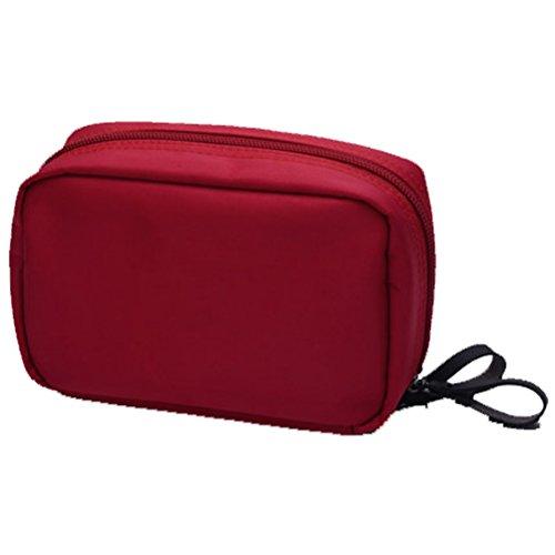 Dushow femmes Voyage cosmétique Sac Portable Grande capacité Sac de transport Mini Maquillage Sac de rangement Petit sac à laver étanche