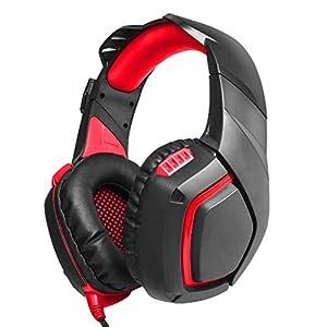 Computer Electric Wettkampfspiel Headset Kopfschutz Anti-Geräusch Schwere Bass Kopfhörer Helle Farben und verschleißfest, Rot