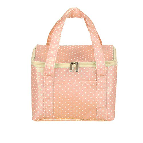 SO-buts Fashion New Portable wasserdichte Dicke Picknick School Lunch Bag Office, isolierte Lunchbox Tasche tragbare Lunchbag(Rosa) - Erwachsenen-lunch-box Rosa