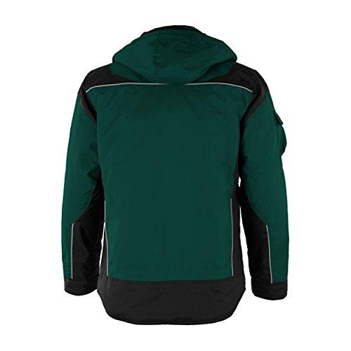 QUALITEX PRO-Winterjacke Arbeitsjacke Stehkragen mit Klett -verschieden Farben Grün/Schwarz