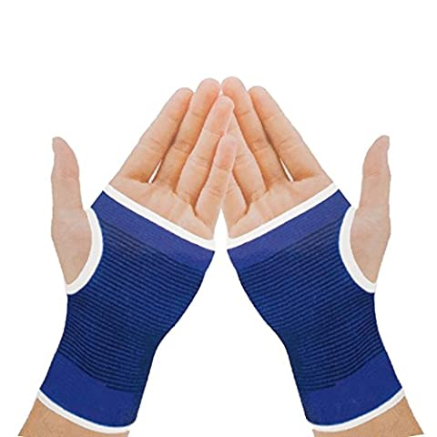 Sports Outdoor Elastic Palm Support Hand Protector Hand Guard 1 Pair Blue by Big Bargain